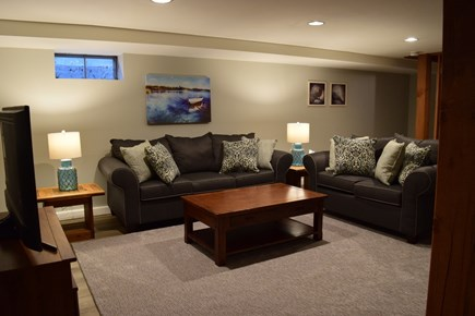 South Chatham Cape Cod vacation rental - Basement Living Area