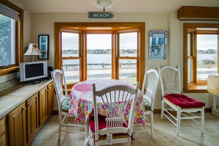 Falmouth Cape Cod vacation rental - Dining table is beside a window to enjoy the gorgeous scenery
