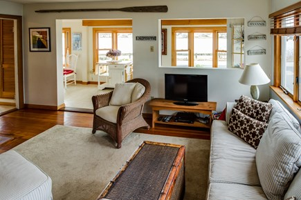 Falmouth Cape Cod vacation rental - Comfy furnishing to enjoy movies on the flatscreen cable TV