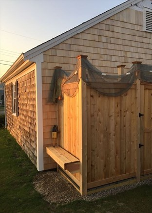 West Dennis Cape Cod vacation rental - Outside shower