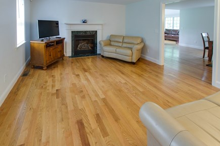 Harwich Cape Cod vacation rental - Stare at the fireplace while drinking your morning coffee