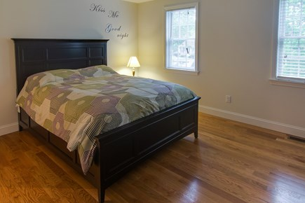 Harwich Cape Cod vacation rental - A queen bed is plenty of space for a couple