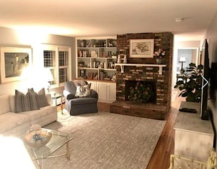 Osterville Osterville vacation rental - Living Room- decorative fireplace. Plenty of floor space.