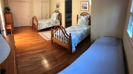 Osterville Osterville vacation rental - Upstairs Bedroom- 2 twin beds, 1 rollaway bed with 2 closets.