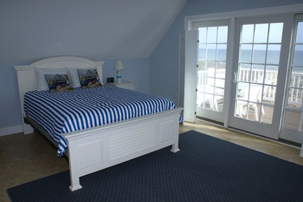 Sandwich Cape Cod vacation rental - Master Bedroom with private deck and oceanviews
