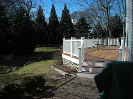 West Falmouth Cape Cod vacation rental - Back Deck