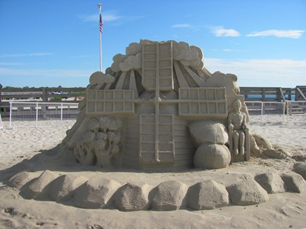 West Yarmouth Cape Cod vacation rental - Sand Sculpture at Bass River Beach