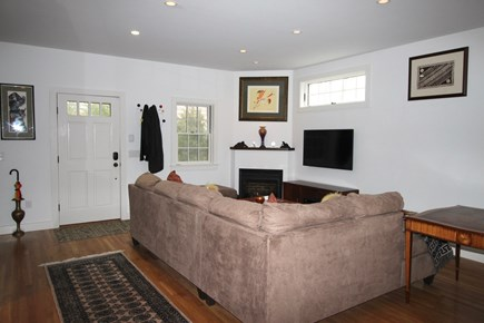 Provincetown Cape Cod vacation rental - Living Room with Gas Fireplace and Flat Screen TV