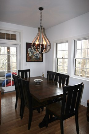 Provincetown Cape Cod vacation rental - Dining for six, we love the light fixure