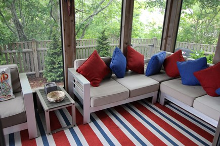 Provincetown Cape Cod vacation rental - Screened Porch opens to Terrace
