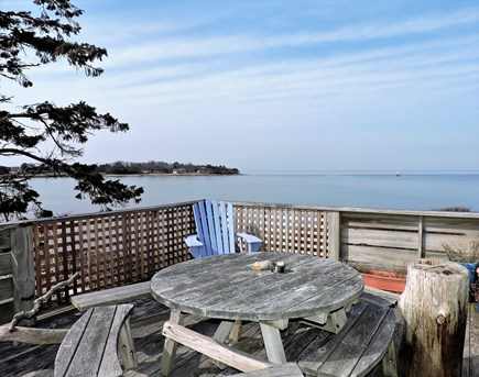 Woods Hole Woods Hole vacation rental - Buzzards Bay views from deck.
