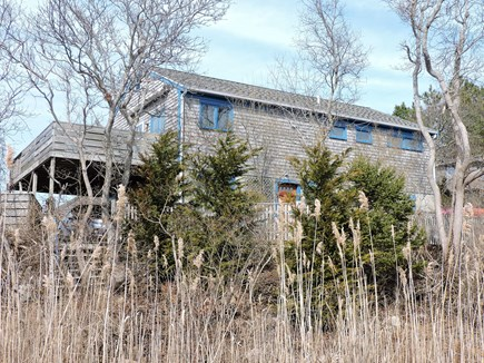 Woods Hole Woods Hole vacation rental - Nestled in a hillside, front of home.