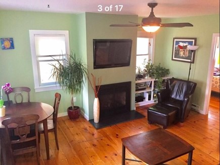 Provincetown Cape Cod vacation rental - Large Open Living Room With Fireplace
