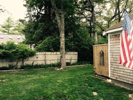 West Harwich Cape Cod vacation rental - Side yard