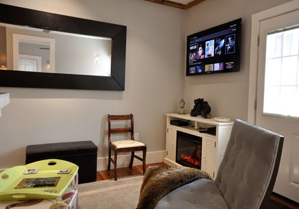 Provincetown Cape Cod vacation rental - Electric Fireplace in Living room