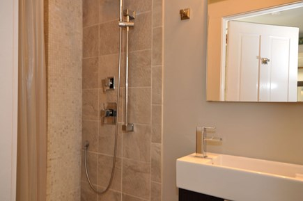 Provincetown Cape Cod vacation rental - Beautiful bathroom with large tiled shower.
