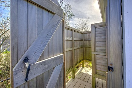 East Sandwich Cape Cod vacation rental - Enclosed outdoor shower.