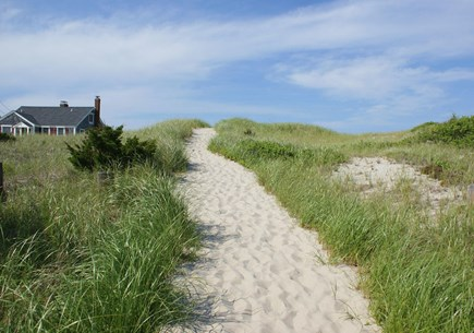 East Sandwich Cape Cod vacation rental - Path through the dunes to the beach