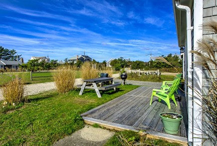 East Sandwich Cape Cod vacation rental - View over the common grassy area.