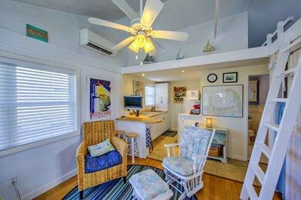 East Sandwich Cape Cod vacation rental - Living/Kitchen area with counter top seating