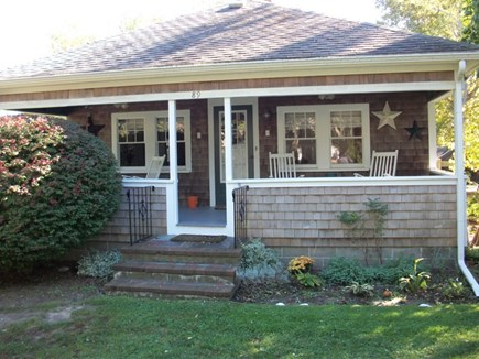 Dennis Cape Cod vacation rental - Charming front porch overlooking beautiful Whig St