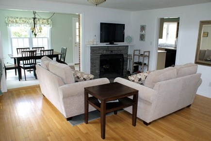 East Sandwich Cape Cod vacation rental - Living Room with fireplace.