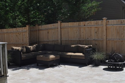 New Seabury, Mashpee New Seabury vacation rental - Outdoor sitting area with fire pit