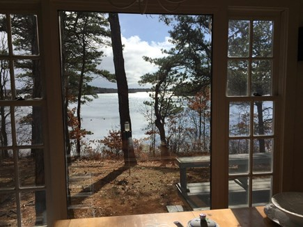 Mashpee Cape Cod vacation rental - View from dining room: Great River/Nantucket Sound at high tide