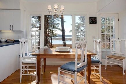 Mashpee Cape Cod vacation rental - Dining rm w/water views of Great River and Nantucket Sound