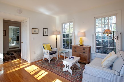 Mashpee Cape Cod vacation rental - Dining room facing north & view towards the living room