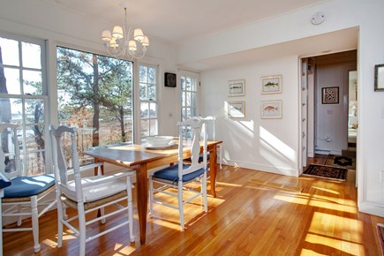 Mashpee Cape Cod vacation rental - Dining room with water views
