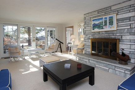 Mashpee Cape Cod vacation rental - Living room faces south towards the water