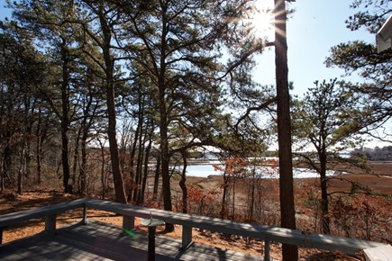 Mashpee Cape Cod vacation rental - Deck with view of Great River towards Nantucket Sound