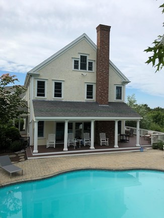 West Barnstable Cape Cod vacation rental - Relax on the Farmers Porch and cool off in the swimming pool!