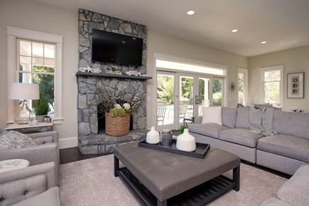 West Barnstable Cape Cod vacation rental - Living Room with Flat Screen and room for the whole family.