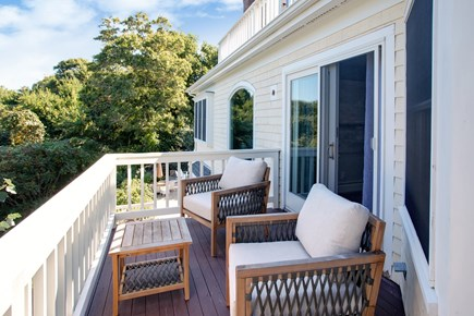 West Barnstable Cape Cod vacation rental - Private deck off the master suite.