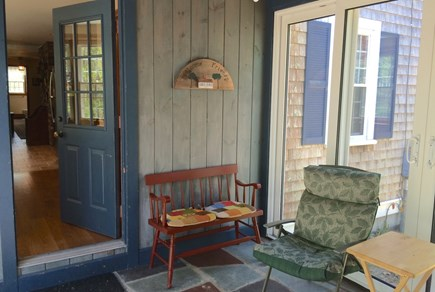 Orleans on Baker's Pond Cape Cod vacation rental - Great place to relax in the screened breezeway.  Watch the birds