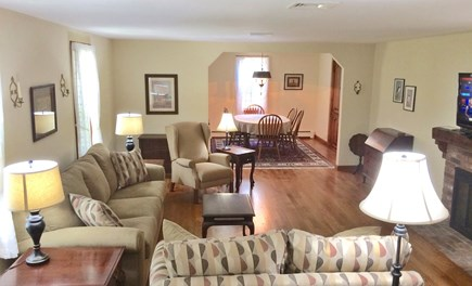 Orleans on Baker's Pond Cape Cod vacation rental - Large open living room and dining room.