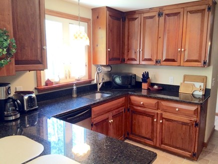 Orleans on Baker's Pond Cape Cod vacation rental - Newly remodeled kitchen that overlooks the backyard.