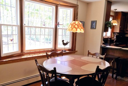 Orleans on Baker's Pond Cape Cod vacation rental - Lots of sunshine in the breakfast room with pretty bay window.