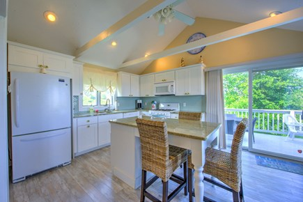 Sandwich Cape Cod vacation rental - Kitchen with access to deck