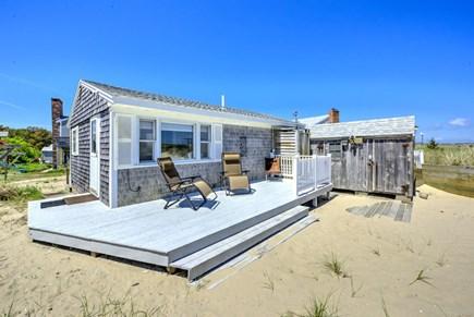 Sandwich, Sagamore Beach Cape Cod vacation rental - Spacious deck on the ocean side.