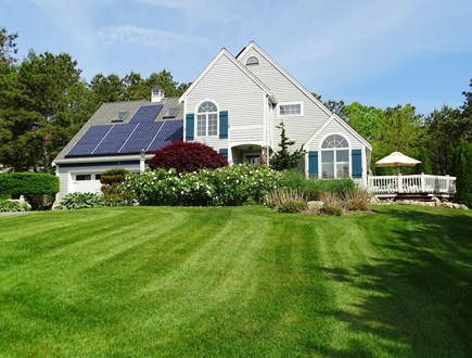 Mashpee Cape Cod vacation rental - Polaris house - sits on large lot with flowering gardens