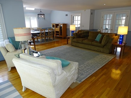 Mashpee Cape Cod vacation rental - Spacious living room opens to dining area
