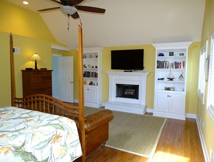 Mashpee Cape Cod vacation rental - Master bedroom with flat screen TV