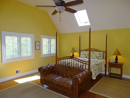 Mashpee Cape Cod vacation rental - Lofted Queen master bedroom with sky light, ceiling fan