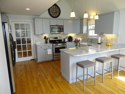 Mashpee Cape Cod vacation rental - Kitchen with granite counter tops, stainless steel appliances