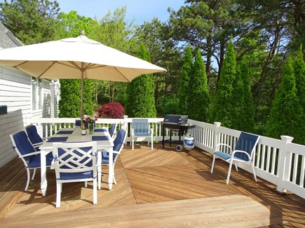 Mashpee Cape Cod vacation rental - Deck 25 x 17 - great space for dining, cocktails, morning coffee