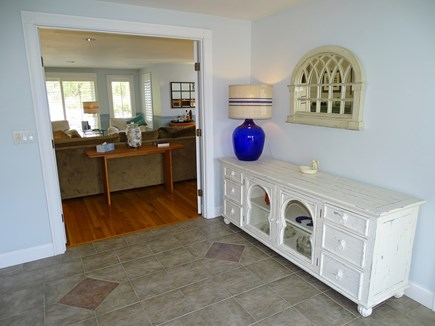 Mashpee Cape Cod vacation rental - Entrance of house, French doors into living room