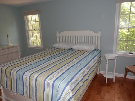 Brewster Cape Cod vacation rental - Master Bedroom with Queen, TV, A/C unit & Full Bathroom